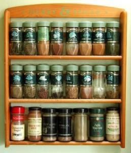 Rekje met kruiden en specerijen