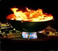 Wok in vuur en vlam