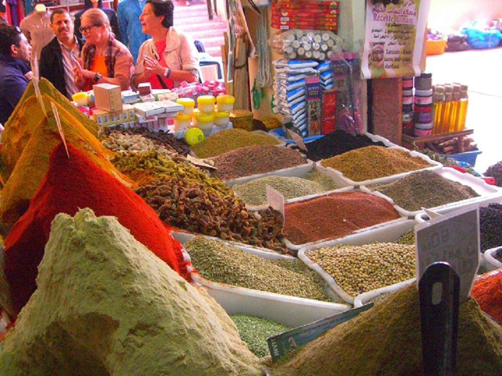 Kruiden en specerijen op de Souk in Agadir