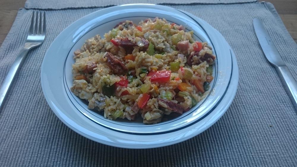 Jambalaya, cajun rijstschotel (nieuwe variant)