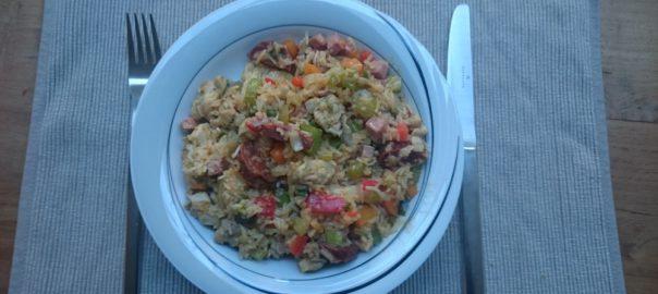 Jambalaya, cajun rijstschotel (nieuwe versie)