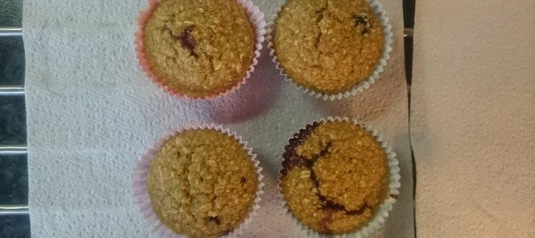 Gezonde muffins met vanille en blauwe bessen