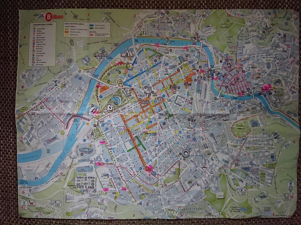 Bilbao plattegrond